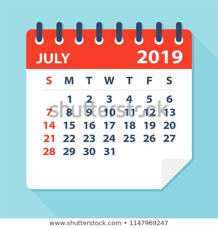 July Calendar Blank Page Stock photo © stevanovicigor