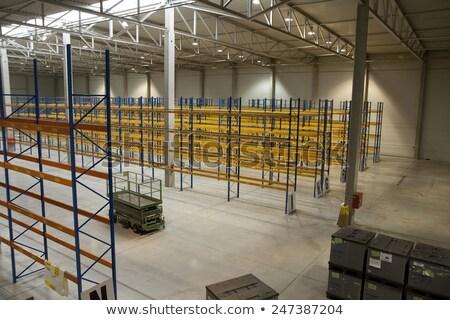 nouvelle · entrepôt · vide · tablettes · distribution · usine - photo stock © jarin13