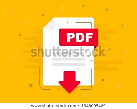 Pdf baixar amarelo vetor ícone projeto Foto stock © rizwanali3d