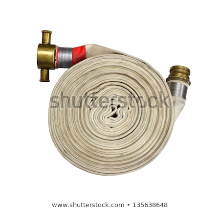 Water hose  Fire Hose with couplings Stock photo © Klinker