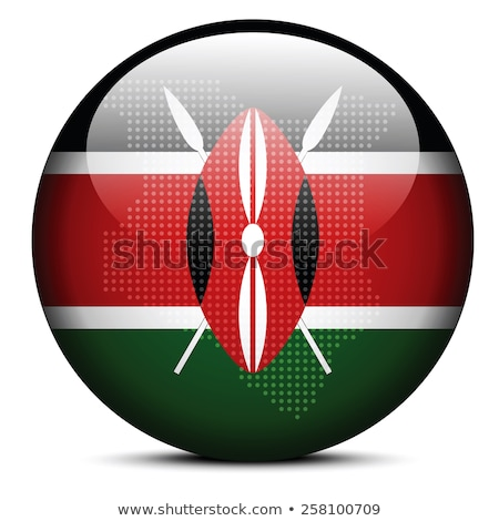 Map with Dot Pattern on flag button of Kenya Stock photo © Istanbul2009
