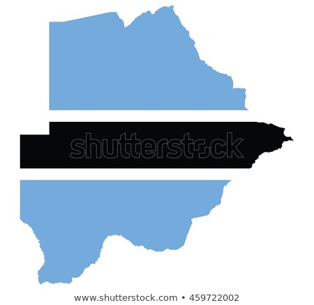 map and flag of botswana stock photo © rbiedermann