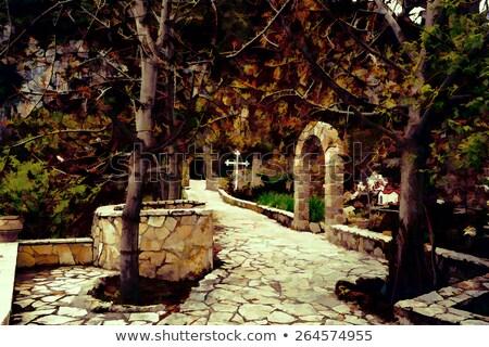pequeño · iglesia · agradable · vista · lago · lado - foto stock © ankarb