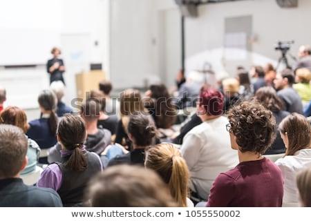 ストックフォト: 女性 · 大学 · 女性 · スピーカー · プレゼンテーション · 講義