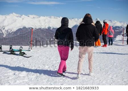 heiligenblut grossglockner ski resort with skiing people stock photo © kasjato