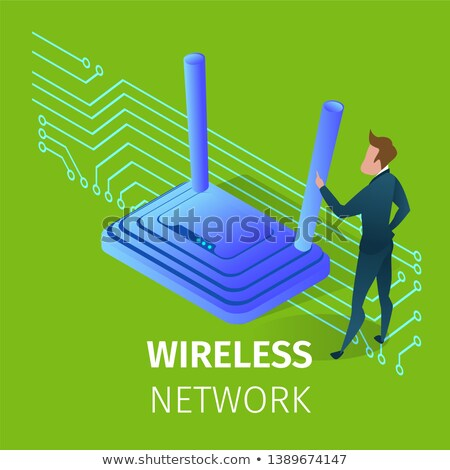 wi fi router for hi speed internet connections stock photo © ruslanomega