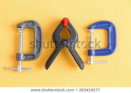assorted clamps from dads tool kit stock photo © ozgur