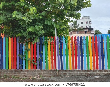 Colorful fence Stock photo © FOTOYOU