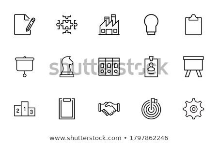 chess board simple icon on white background stock photo © tkacchuk