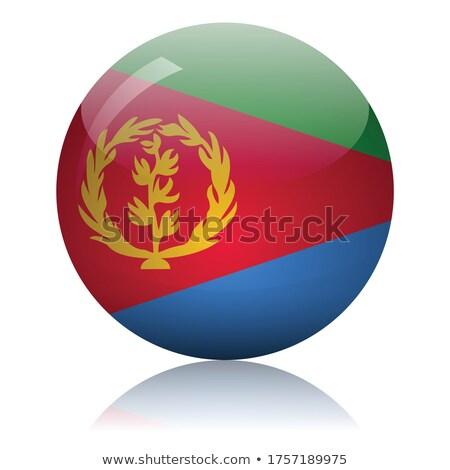 Eritrea · zászló · gomb · textúra · művészet · kék - stock fotó © mayboro