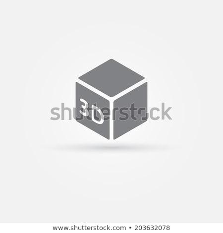 Impressora 3D ícone ilustração branco escritório Foto stock © nickylarson974