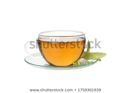 hárs · tea · üveg · citrus · díszített · koszorú - stock fotó © mady70