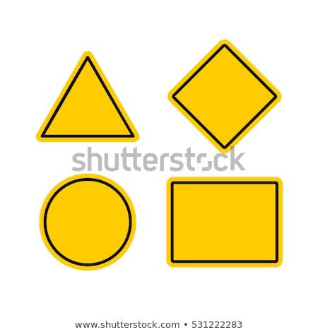 Warning Sign Square Vector Orange Icon Design Set Stock photo © rizwanali3d