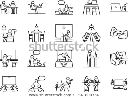 Co-working Icon Stock photo © WaD