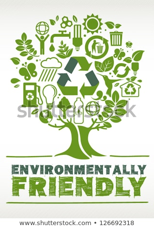 újrahasznosít fa illusztráció fehér kéz fa Stock fotó © get4net