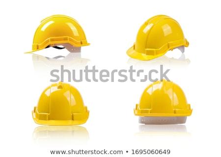 Inşaat kask sarı plastik ikon Stok fotoğraf © axstokes