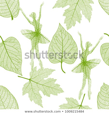 dancing leaves seamless stock photo © sahua
