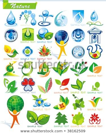 shopping sign blue vector button icon design set 2 stock photo © rizwanali3d