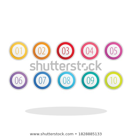 Numbers Counting Yellow Vector Button Icon Design Set Stock photo © rizwanali3d