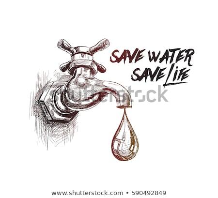 gota · de · água · água · tubo · ícone · projeto · assinar - foto stock © rastudio
