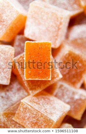 Sárgabarack gyümölcs zselé szelektív fókusz dzsúz desszert Stock fotó © zoryanchik
