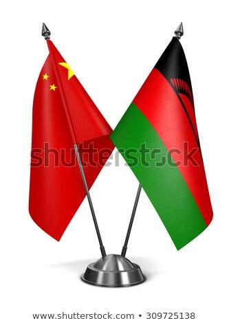 Cina Malawi miniatura bandiere isolato bianco Foto d'archivio © tashatuvango