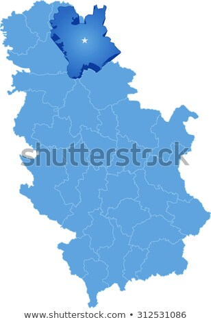map of serbia subdivision central banat district stock photo © istanbul2009