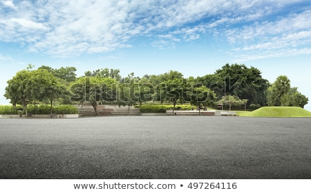 Road in a cloudy nature scenery Stock photo © Sportactive