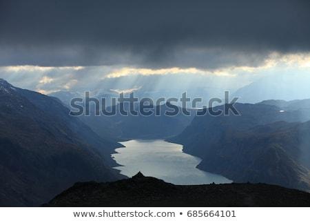 park · Norvégia · égbolt · természet · hegy · nyár - stock fotó © slunicko