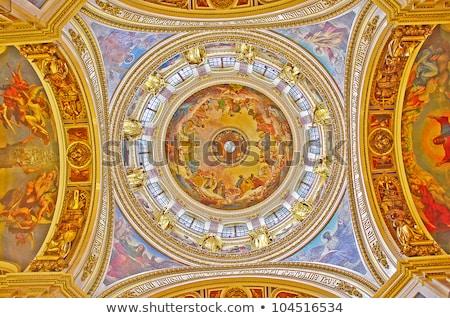 Vecchio religiosa soffitto dipinti pagoda Foto d'archivio © smithore