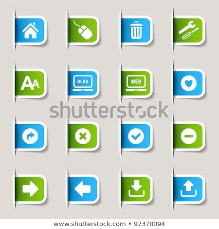 Küld zöld vektor ikon gomb internet Stock fotó © rizwanali3d