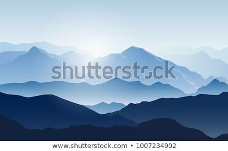 hegyek · vektor · 3d · illusztráció · absztrakt · mértani · papír - stock fotó © m_pavlov