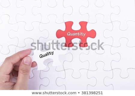 excellence   puzzle on the place of missing pieces stock photo © tashatuvango