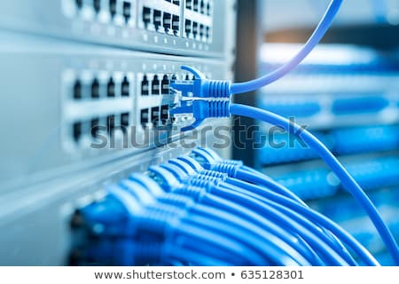Routeur fils blanche ordinateur internet Photo stock © OleksandrO