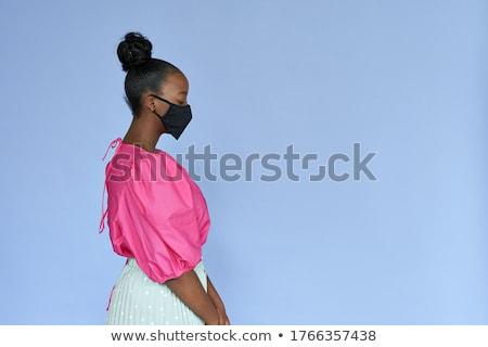 Leylak rengi siyah güzel esmer siyah iç çamaşırı Stok fotoğraf © disorderly