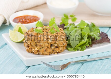 spicy deep fried tuna salad stock photo © nalinratphi