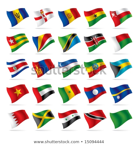 Объединенные Арабские Эмираты Микронезия флагами головоломки изолированный белый Сток-фото © Istanbul2009