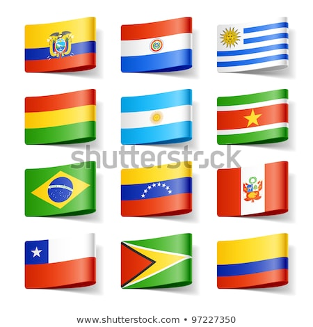 Суринам · карта · стране · рисунок - Сток-фото © istanbul2009