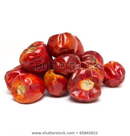 Stock photo: Red round chillis