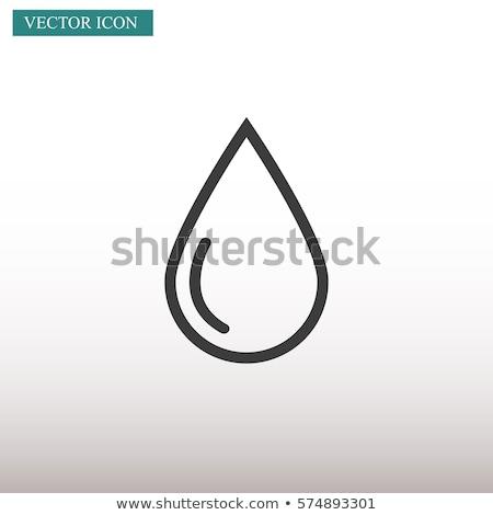 Abstract vector water drop icon Stock photo © ExpressVectors
