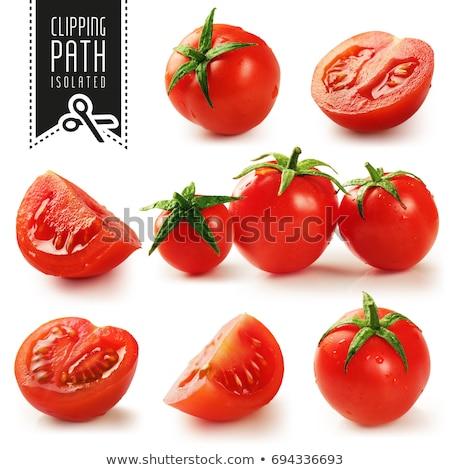 Ecológico tomates cesta alimentos Foto stock © p0temkin