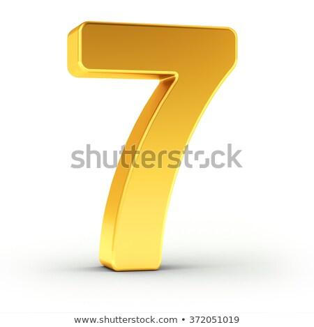 числа семь полированный объект Сток-фото © creisinger