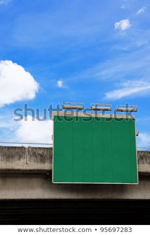 Blank traffic road sign by the roadway Stock photo © stevanovicigor