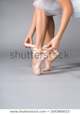 jonge · vrouwelijke · balletdanser · tonen · stropdas - stockfoto © deandrobot