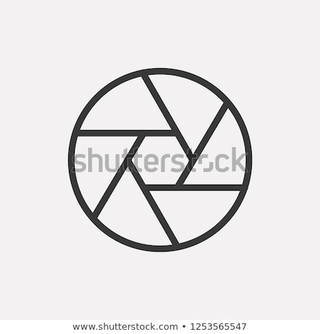 Camera shutter line icon. Stock photo © RAStudio