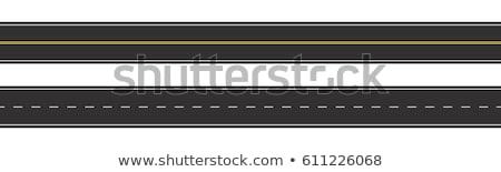 Stockfoto: Rechtdoor · asfalt · weg · leidend · hemel · bos