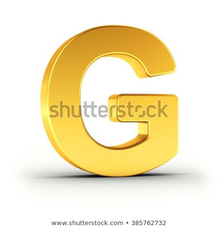 Litera g obyty złoty obiektu biały Zdjęcia stock © creisinger