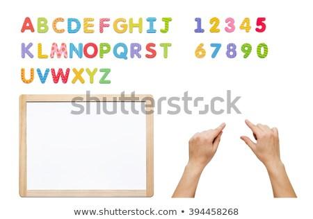 Magnético alfabeto conjunto construir palavra cartas Foto stock © simpson33