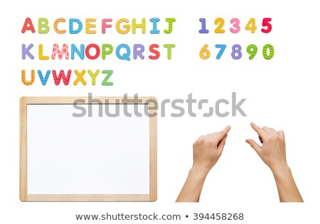 Magnetisch alfabet ingesteld bouwen woord brieven Stockfoto © simpson33