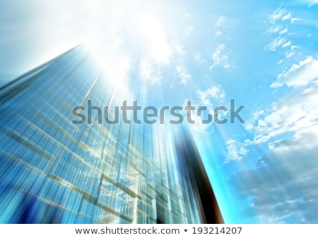 nieuwe · gebouw · blauwe · hemel · stad · bouw - stockfoto © meinzahn